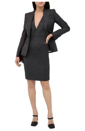 Женский шерстяной костюм DSQUARED2 темно-серого цвета, арт. S75FZ0067/S53014 | Фото 1