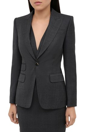 Женский шерстяной костюм DSQUARED2 темно-серого цвета, арт. S75FZ0067/S53014 | Фото 2