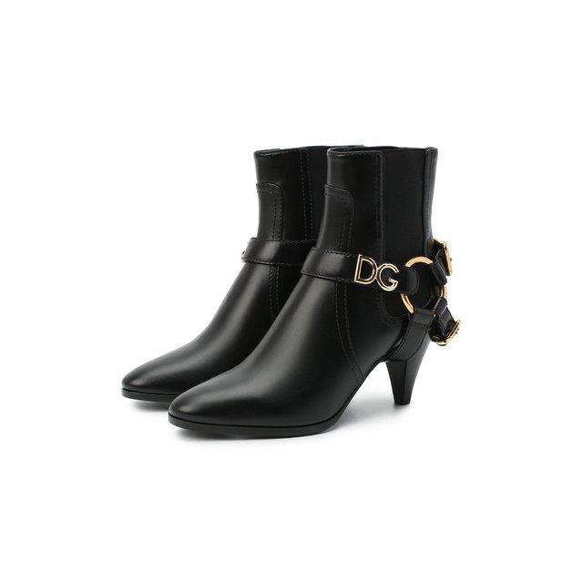 Кожаные ботильоны Caroline Dolce & Gabbana