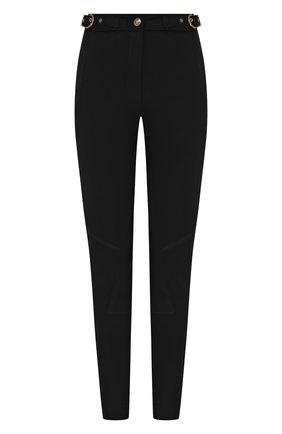 Женские брюки из вискозы VERSACE JEANS COUTURE черного цвета, арт. A1HZA100-ZDP100/11708 | Фото 1
