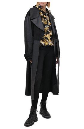 Женские брюки из вискозы VERSACE JEANS COUTURE черного цвета, арт. A1HZA100-ZDP100/11708 | Фото 2