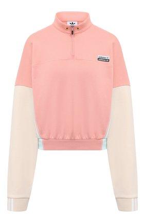 Женский хлопковая толстовка ADIDAS ORIGINALS розового цвета, арт. GE1271 | Фото 1