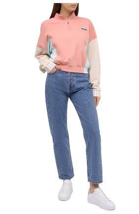 Женский хлопковая толстовка ADIDAS ORIGINALS розового цвета, арт. GE1271 | Фото 2