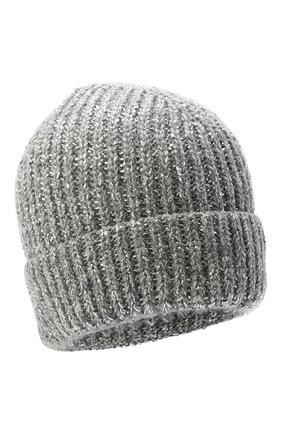 Женская шапка из шерсти  кашемира CANOE светло-серого цвета, арт. 4919772 | Фото 1