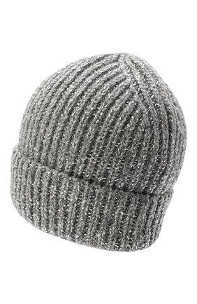 Женская шапка из шерсти  кашемира CANOE светло-серого цвета, арт. 4919772 | Фото 2