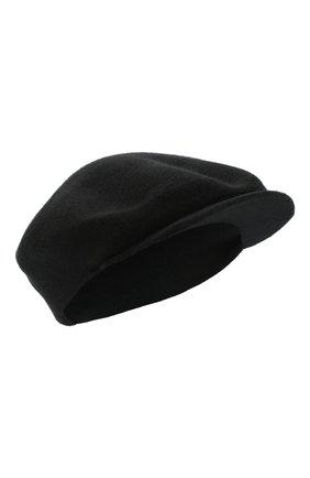 Женская кашемировая кепи CANOE черного цвета, арт. 4916010 | Фото 1
