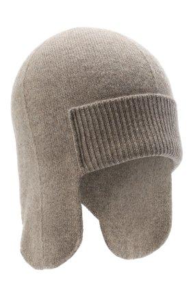 Женская кашемировая шапка-ушанка CANOE бежевого цвета, арт. 4916456 | Фото 1