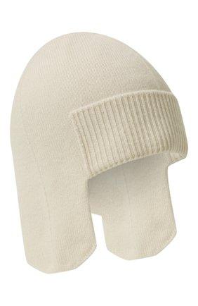 Женская кашемировая шапка-ушанка CANOE белого цвета, арт. 4916400 | Фото 1