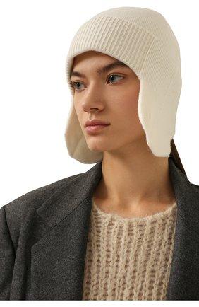 Женская кашемировая шапка-ушанка CANOE белого цвета, арт. 4916400 | Фото 2