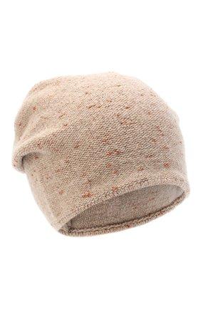 Женская шерстяная шапка CANOE светло-коричневого цвета, арт. 4003492 | Фото 1