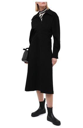 Женские кожаные ботинки zaniah NEOUS черного цвета, арт. 00210A01EL01 | Фото 2