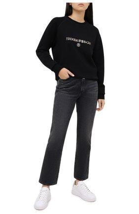 Женская хлопковый свитшот TOSKVA черного цвета, арт. SWIT sweatshirt -SS.U001-W21-F5-900-200   Фото 2