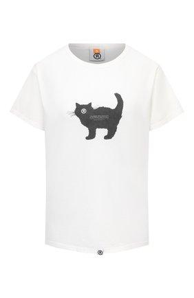 Женская хлопковая футболка TOSKVA белого цвета, арт. GIRL GREEN t-shirt-TS.W001-W21-T4M-100-500   Фото 1