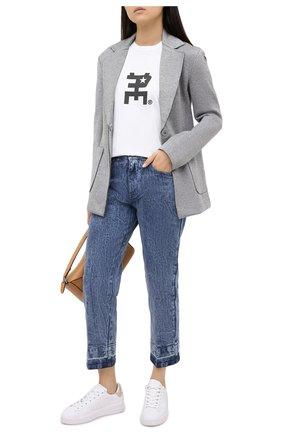 Женская хлопковая футболка TOSKVA белого цвета, арт. GIRL BASE t-shirt-TS.W002-W21-T2-100-800   Фото 2