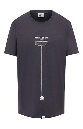 Женская хлопковая футболка TOSKVA серого цвета, арт. TS.M.U000.T5-W21-909-P   Фото 1