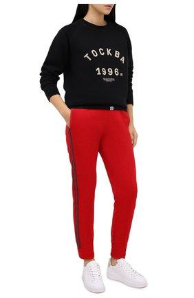Женская хлопковый свитшот TOSKVA черного цвета, арт. SWIT sweatshirt -SS.U001-W21-F5-900-300   Фото 2