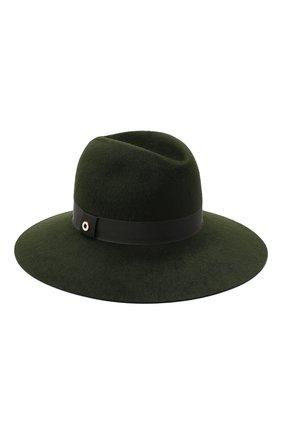 Женская фетровая шляпа LORO PIANA зеленого цвета, арт. FAL4644 | Фото 1 (Материал: Шерсть)