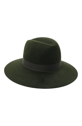 Женская фетровая шляпа LORO PIANA зеленого цвета, арт. FAL4644 | Фото 2 (Материал: Шерсть)