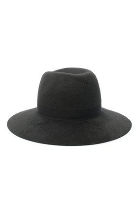 Женская фетровая шляпа LORO PIANA серого цвета, арт. FAL4644 | Фото 2 (Материал: Шерсть)