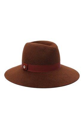 Женская фетровая шляпа LORO PIANA коричневого цвета, арт. FAL4644 | Фото 1 (Материал: Шерсть)