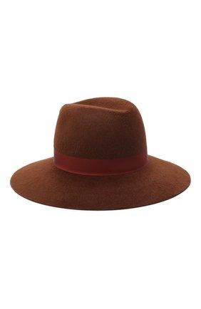 Женская фетровая шляпа LORO PIANA коричневого цвета, арт. FAL4644 | Фото 2 (Материал: Шерсть)