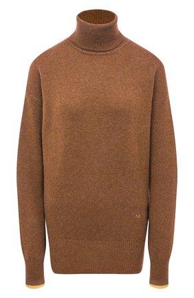 Женский кашемировый свитер VICTORIA BECKHAM коричневого цвета, арт. 1320KJU001581A | Фото 1