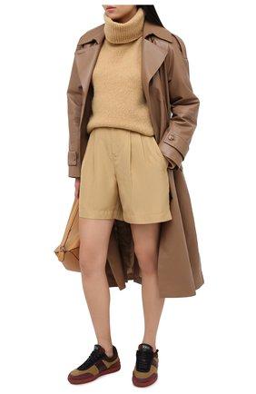 Женские кожаные кеды elbaz TOD'S зеленого цвета, арт. XXW68C0DP300US | Фото 2
