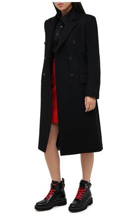 Женские кожаные ботинки HOGAN черного цвета, арт. HXW5430DG301QA | Фото 2