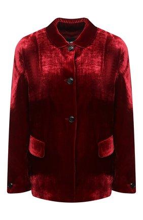 Женский жакет из вискозы GIORGIO ARMANI красного цвета, арт. 0WHGG0H3/T01I7 | Фото 1 (Длина (для топов): Стандартные; Материал подклада: Шелк; Рукава: Длинные; 1-2-бортные: Однобортные; Женское Кросс-КТ: Жакет-одежда; Материал внешний: Вискоза; Случай: Вечерний)