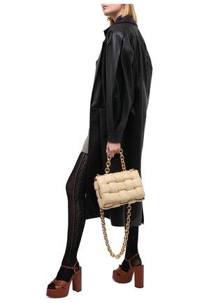 Женские хлопковые колготки GUCCI черного цвета, арт. 627897/3GA10 | Фото 2
