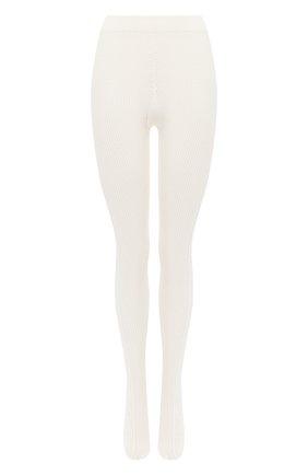 Женские хлопковые колготки GUCCI белого цвета, арт. 627897/3GA10 | Фото 1