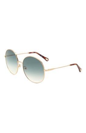 Женские солнцезащитные очки CHLOÉ зеленого цвета, арт. 171S-838   Фото 1