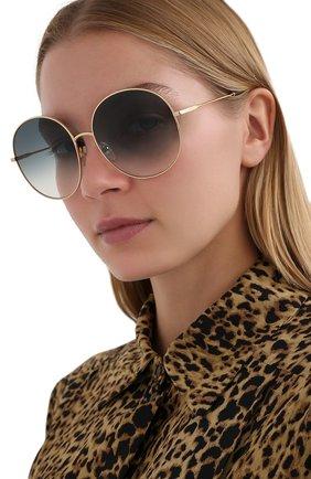 Женские солнцезащитные очки CHLOÉ зеленого цвета, арт. 171S-838   Фото 2