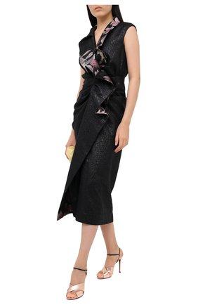 Женские кожаные босоножки betsy GUCCI бронзового цвета, арт. 626718/BJ8S0 | Фото 2