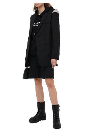 Женские кожаные ботинки frances GUCCI черного цвета, арт. 628855/DH7A0 | Фото 2
