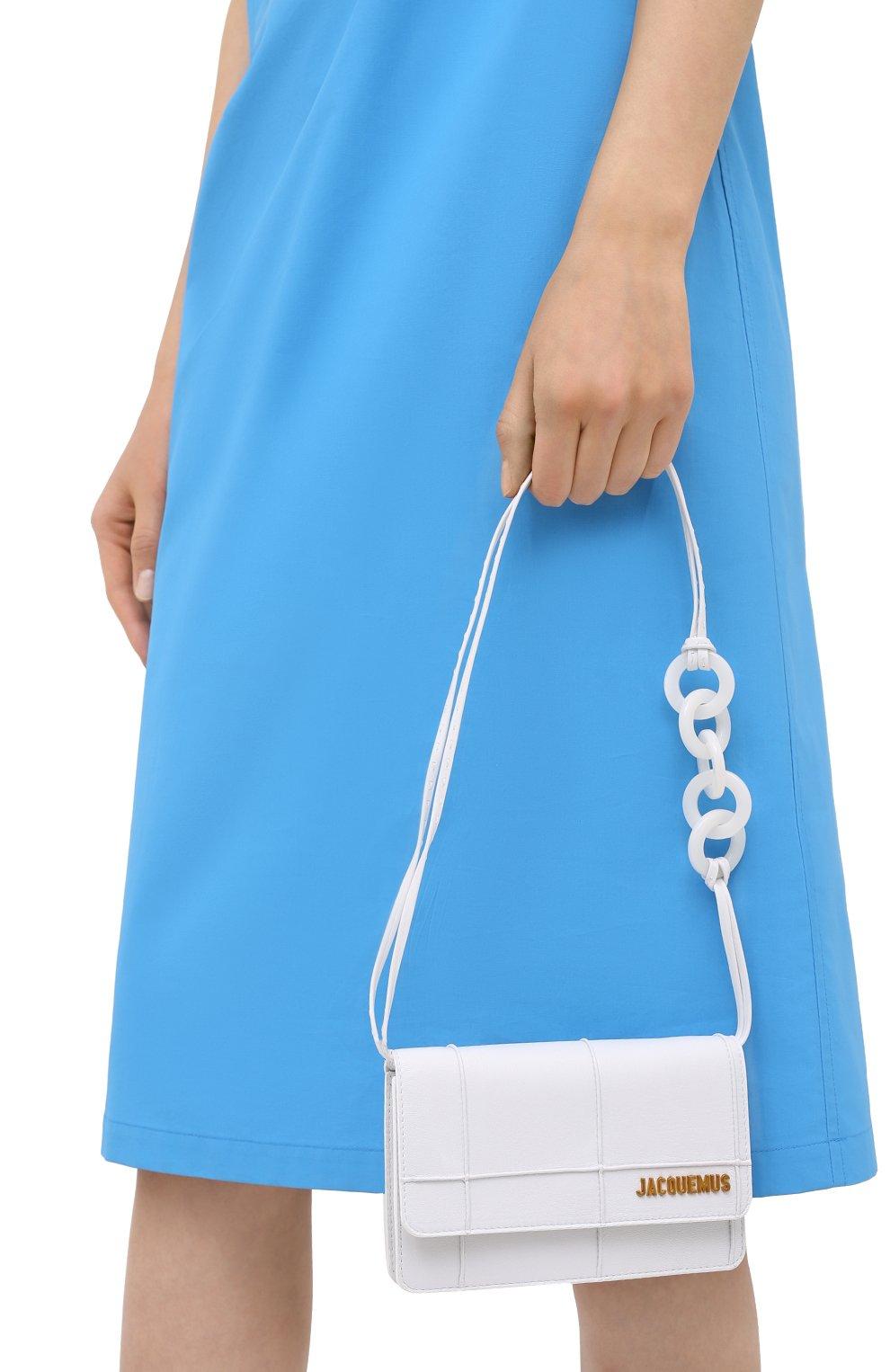 Женская сумка le riviera mini JACQUEMUS белого цвета, арт. 203BA09/308100 | Фото 2