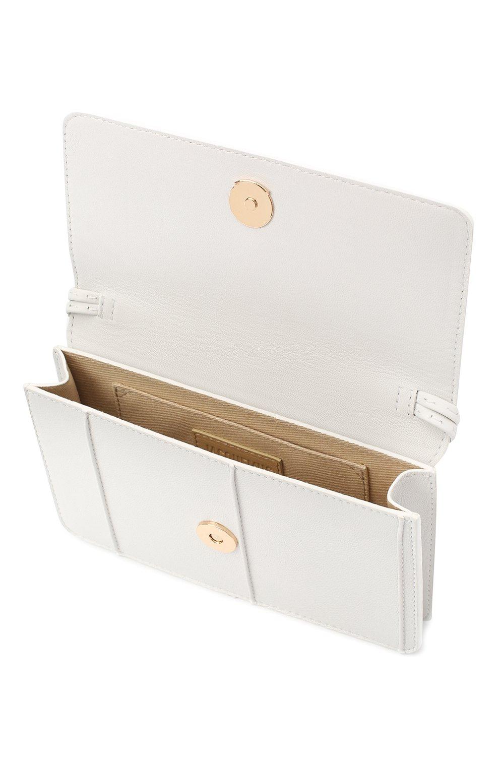 Женская сумка le riviera mini JACQUEMUS белого цвета, арт. 203BA09/308100 | Фото 3