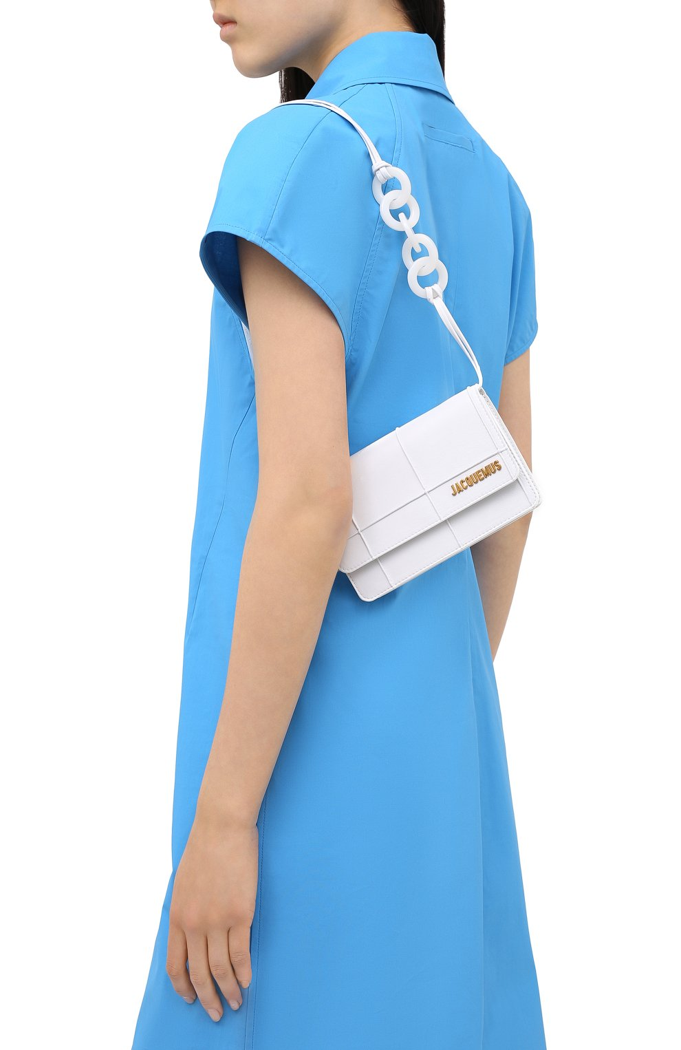 Женская сумка le riviera mini JACQUEMUS белого цвета, арт. 203BA09/308100 | Фото 5