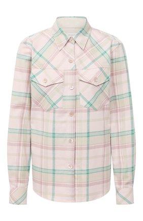 Женская хлопковая рубашка DRIES VAN NOTEN розового цвета, арт. 202-10703-1211 | Фото 1