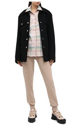 Женская хлопковая рубашка DRIES VAN NOTEN розового цвета, арт. 202-10703-1211 | Фото 2