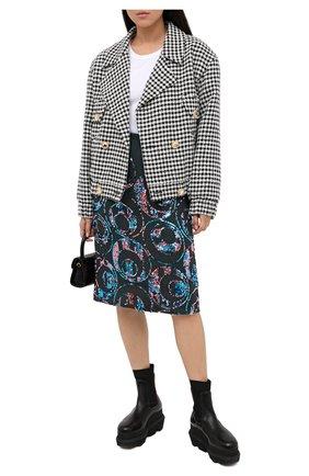 Женская юбка с пайетками DRIES VAN NOTEN зеленого цвета, арт. 202-30831-1424 | Фото 2