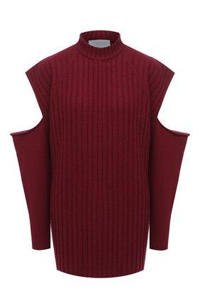 Женский шерстяной свитер ERIKA CAVALLINI бордового цвета, арт. W0/P/P0WB11 | Фото 1