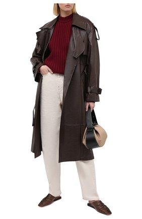 Женский шерстяной свитер ERIKA CAVALLINI бордового цвета, арт. W0/P/P0WB11 | Фото 2