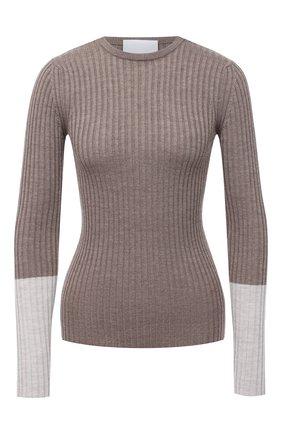 Женский шерстяной пуловер ERIKA CAVALLINI серого цвета, арт. W0/P/P0WD06 | Фото 1