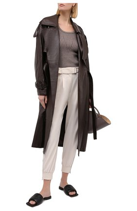 Женский шерстяной пуловер ERIKA CAVALLINI серого цвета, арт. W0/P/P0WD16 | Фото 2