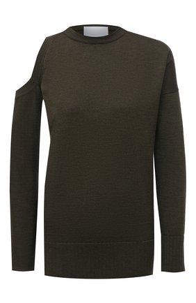 Женский шерстяной пуловер ERIKA CAVALLINI темно-зеленого цвета, арт. W0/P/P0WD22 | Фото 1