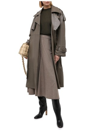 Женский шерстяной пуловер ERIKA CAVALLINI темно-зеленого цвета, арт. W0/P/P0WD22 | Фото 2