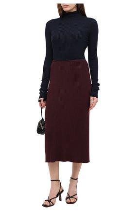 Женская юбка PIETRO BRUNELLI бордового цвета, арт. G0M021/VIM038 | Фото 2