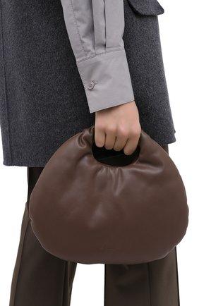 Женская сумка egg LOW CLASSIC темно-коричневого цвета, арт. L0W20FW_BA17DB | Фото 2