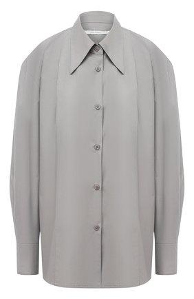 Женская хлопковая рубашка LOW CLASSIC серого цвета, арт. L0W20FW_SH04GR | Фото 1